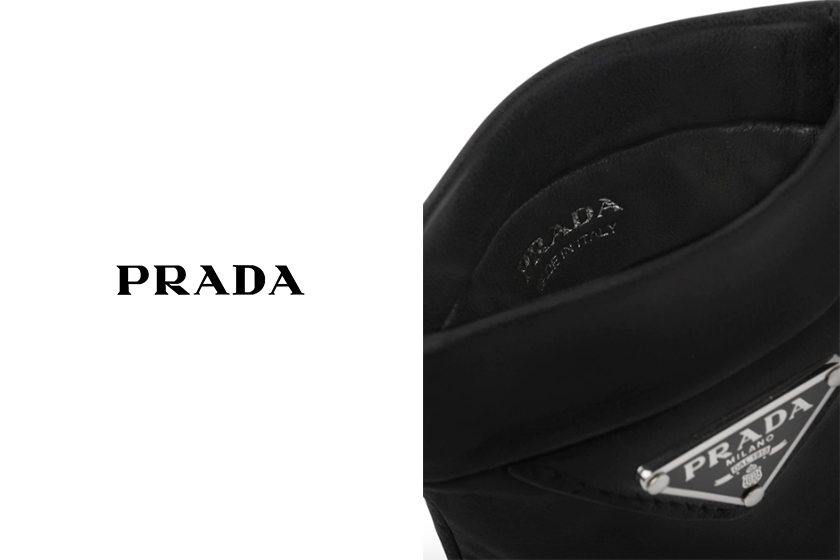 Prada chain-strap mini pouch bag