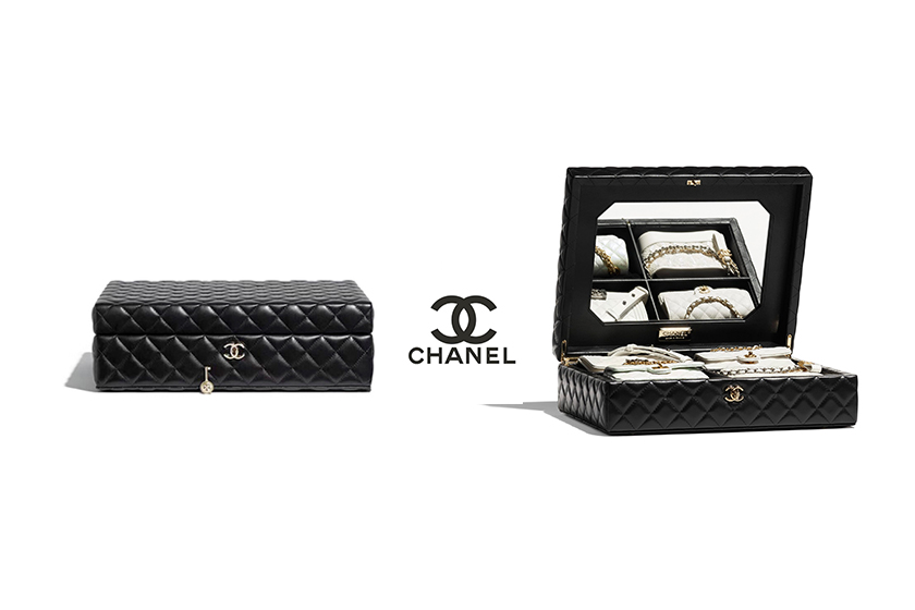 Chanel set of 4 Mini Bags in White with Leather Quilted Case handbags 2021