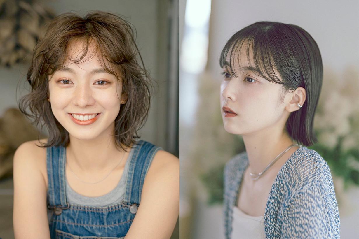 short hair curl striaght ref japanese girl