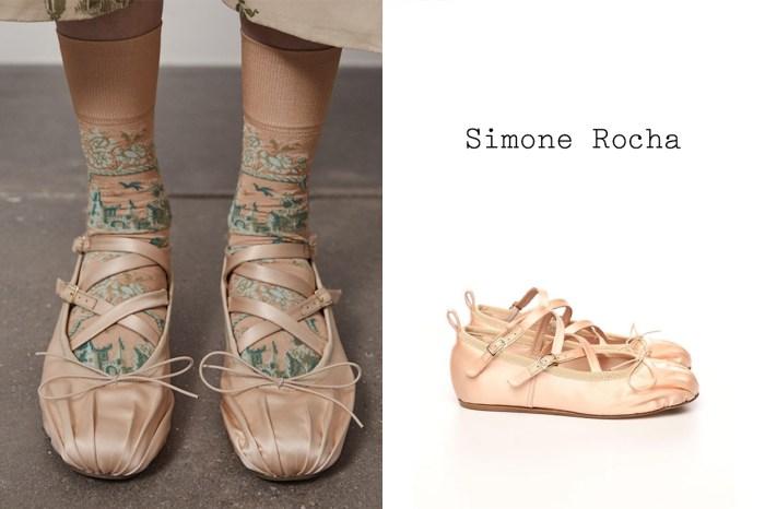 每個擁有著少女心的精緻女生,都應該值得一雙 Simone Rocha 的芭蕾舞鞋!