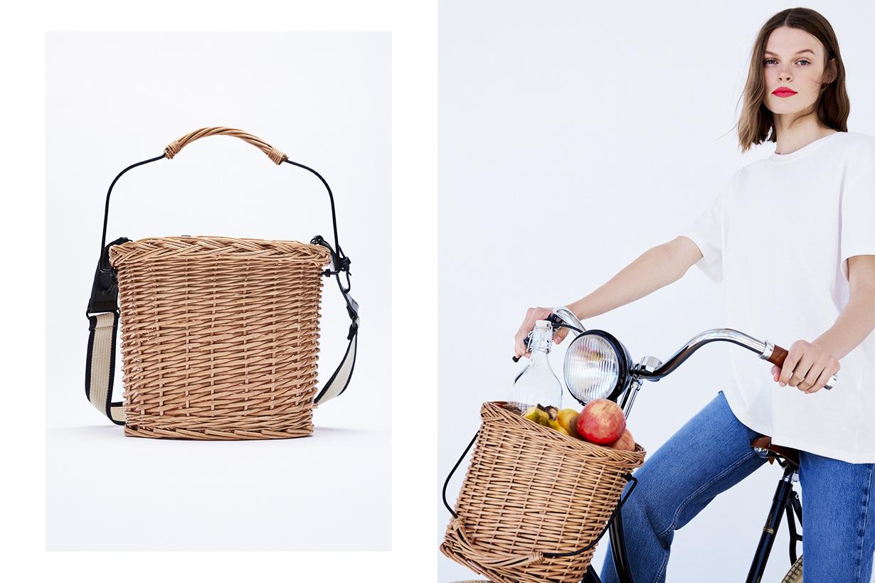 Zara Bike Basket Woven Handbags 2 ways handbag 2021 spring summer fashion trends fashion items handbag trend