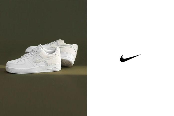 Nike 在時髦女生最愛的純白 Air Force 1 加入這個細節,低調中依舊與眾不同!