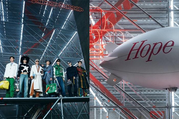 有 BTS 全員加入的 Louis Vuitton 秋冬大秀,從場景到手袋配件都惹人注目!