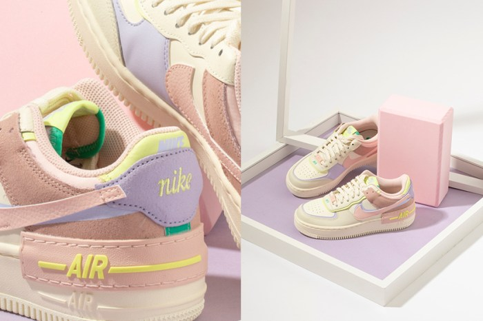 女生們都難以招架:Nike 為變奏版 Air Force 1 帶來夏日的夢幻果昔色!