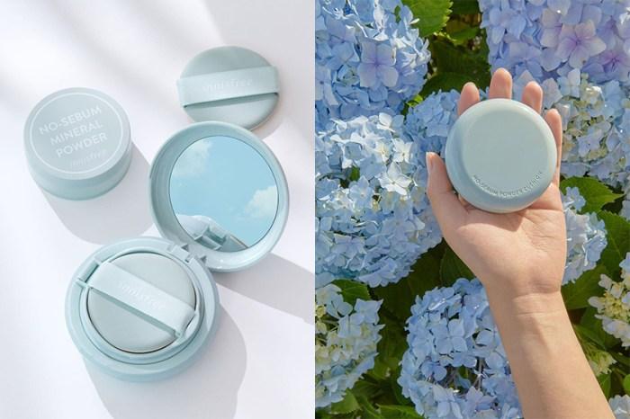 席捲日韓女生 IG 的薄荷綠小圓盒:Innisfree 把經典「控油蜜粉」變成了氣墊粉餅!