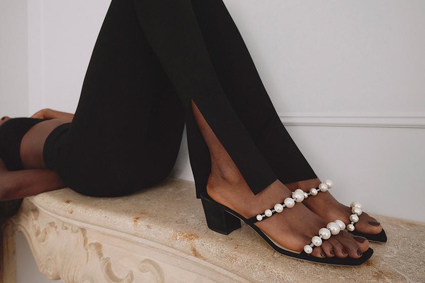 jimmy choo pearl shoes 2021 summer sandals ballet flats