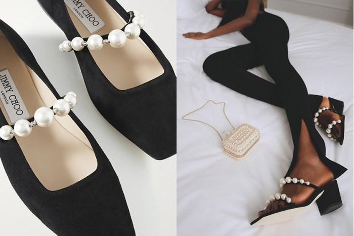 浪漫的恰到好處:Jimmy Choo 新上架珍珠鞋履,讓時髦女生一秒動心!