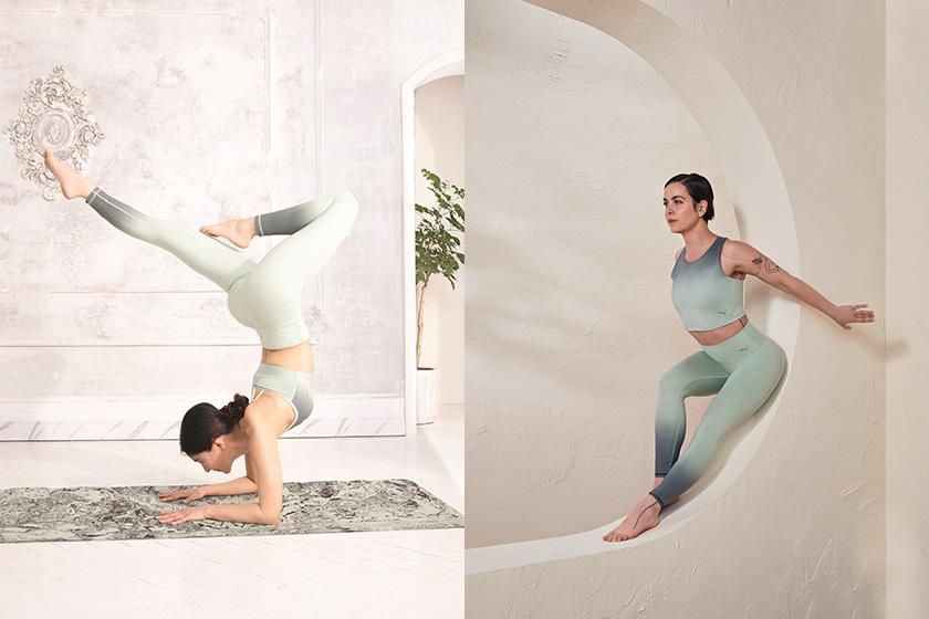 PUMA Studio Yoga pants Sports Bra yoga mat