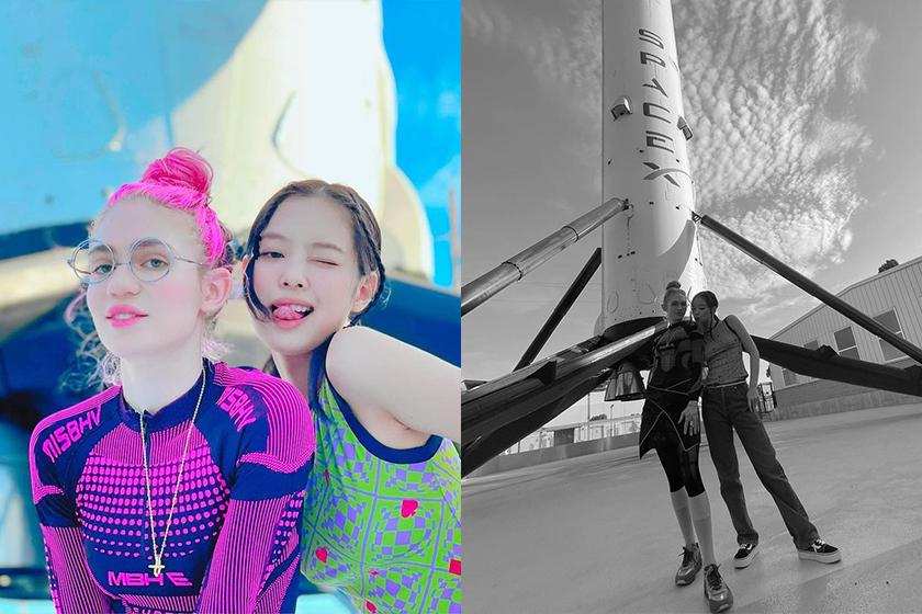 Jennie Instagram Grimes SpaceX Rocket