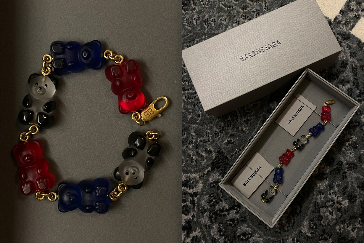balenciaga gummy bear bracelet earrings choker sale where buy 2021