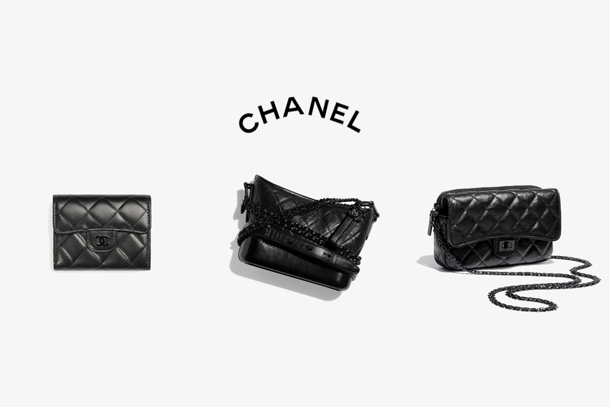 chanel so black gabrielle 2.55 flap coin mini handbag pre fall 21B 2021