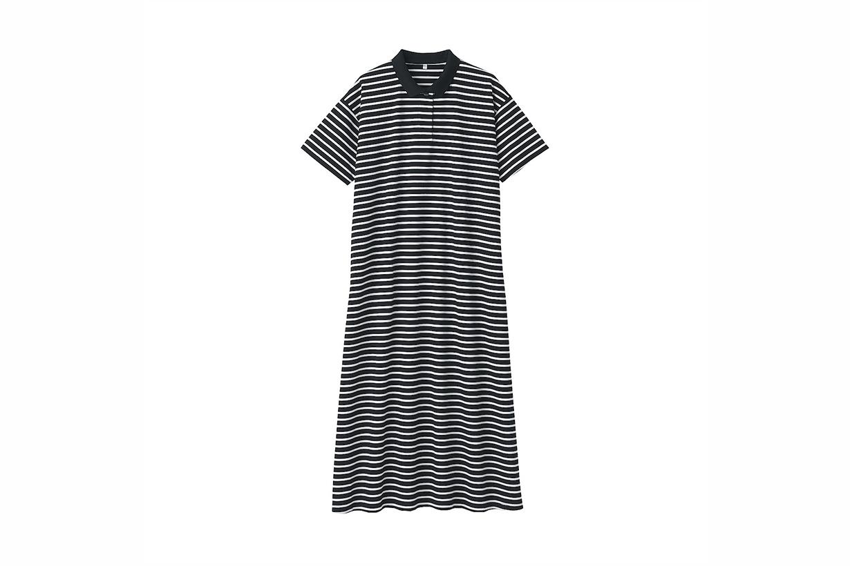 MUJI Organic Cotton Pique Polo Dress 2021ss