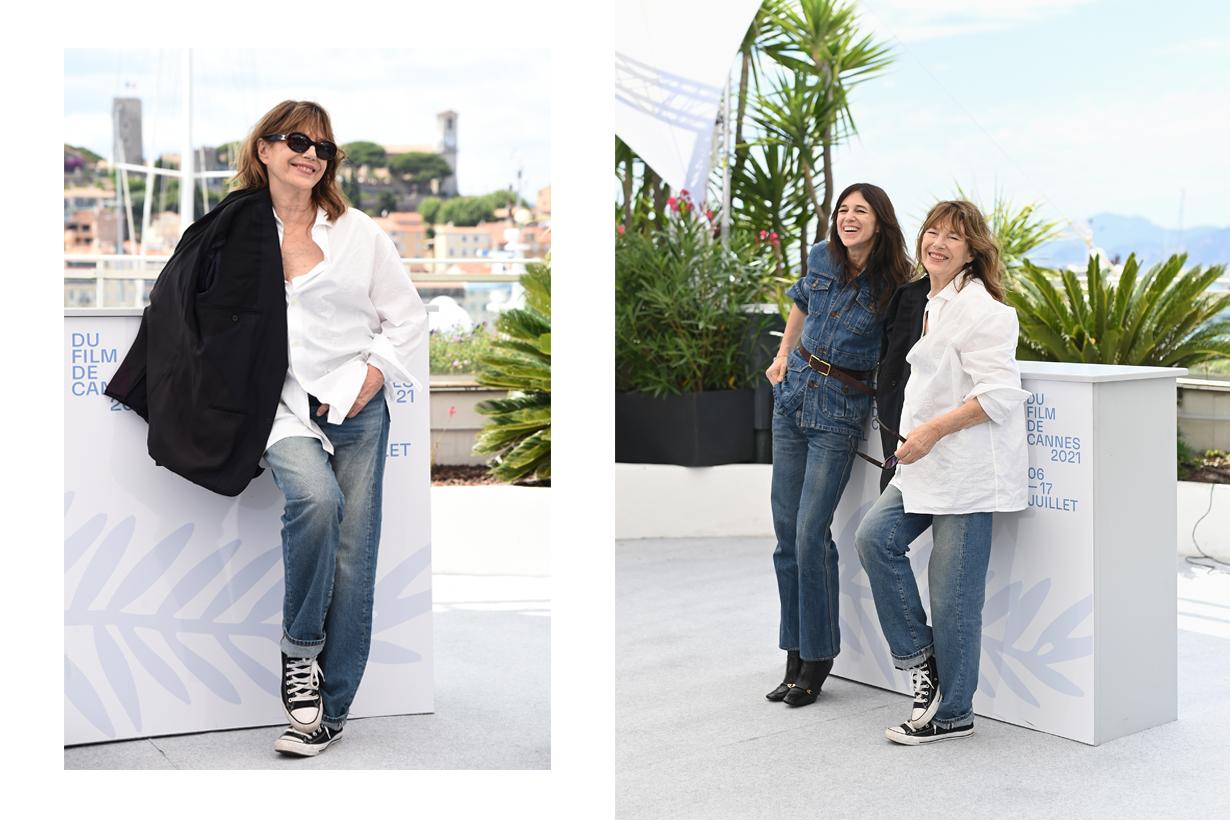 jance birkin cannes white shirts converse jeans 2021