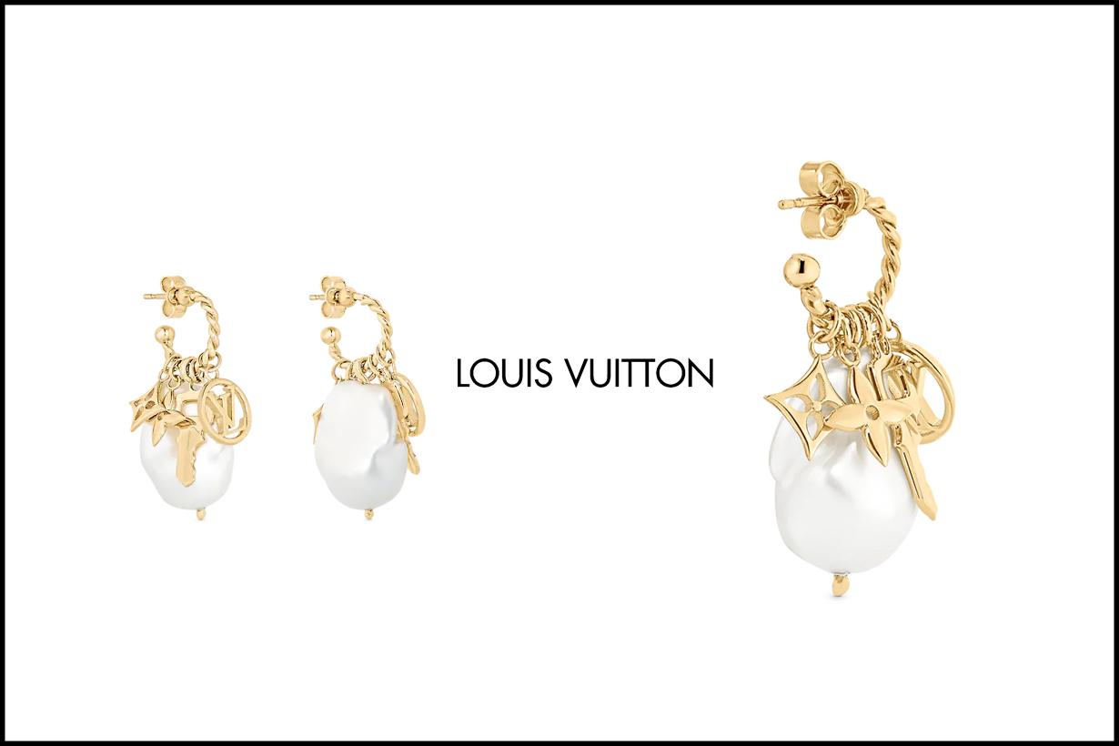 louis vuitton together monogram earrings bracelet necklace pearl