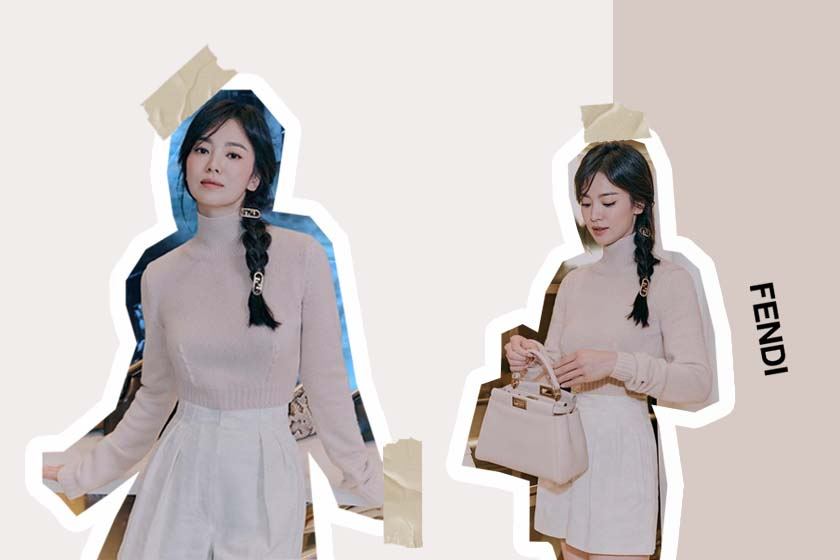song hye kyo Fendi 2021 fw hairpin accessories