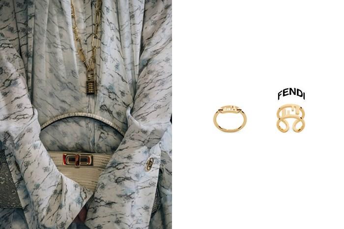 極簡 F 字母:Fendi 新上架戒指、耳環,時髦女生搶著收入飾品盒!