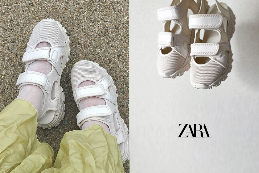 ZARA TECHNICAL SANDALS shoes 2021