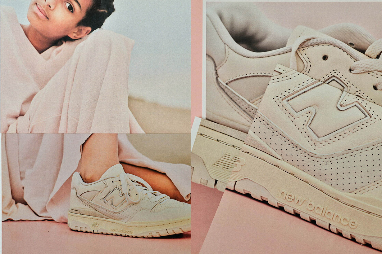 AURALEE x New Balance 550 sneakers shoes release info 2021