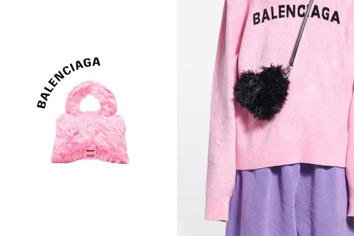 情人節限定:毛絨絨的 Balenciaga 人氣手袋,還藏了一個愛心小包!