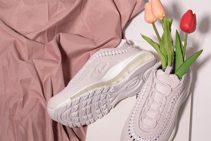 繼搶手奶油色後,Nike 再度為編織設計 Air Max 97 帶來浪漫薰衣草粉!