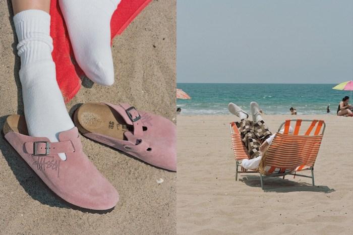Birkenstock x Stussy 新聯名:呼喊著夏天的尾聲,需要一雙粉色涼鞋!