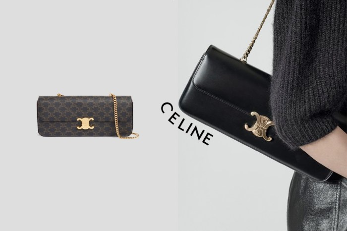 Celine Triomphe 肩背包:換上金屬鏈,仙氣時髦+999%!