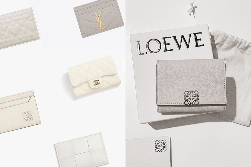 Bottega Veneta Loewe Prada dior Chanel white cardholders accessories