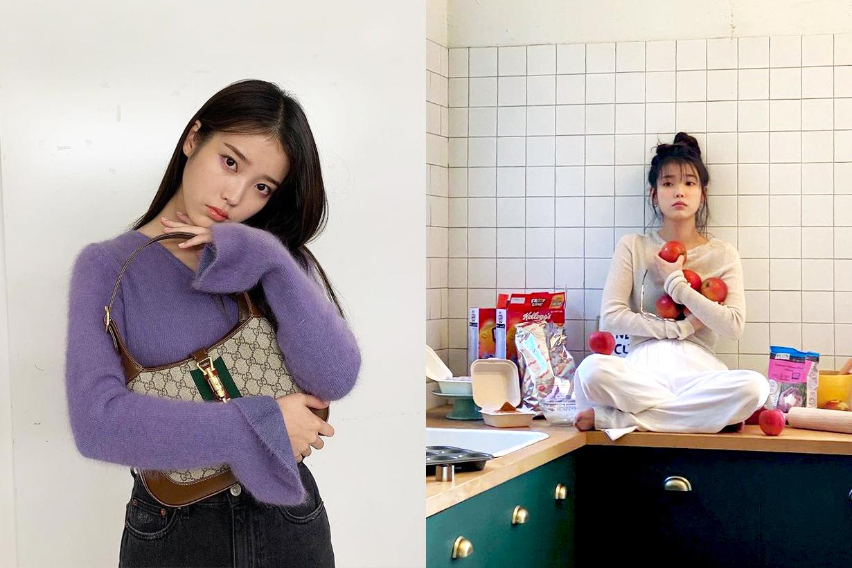 IU Lee Ji Eun Celebrities breakfast healthy eating tips Palette ceramic plates korean idols celebrities singers