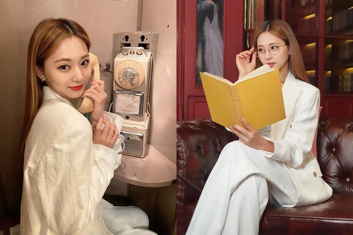 TWICE Chou Tzu Yu Tzuyu The Feels English album JYP Entertainment Beret style 2021 Fall Winter fashion trends fashion items korean idols celebrities singers girl bands