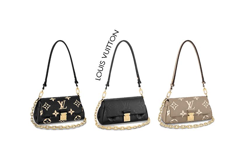 Louis Vuitton The Favorite Bag Cream Black Handbags