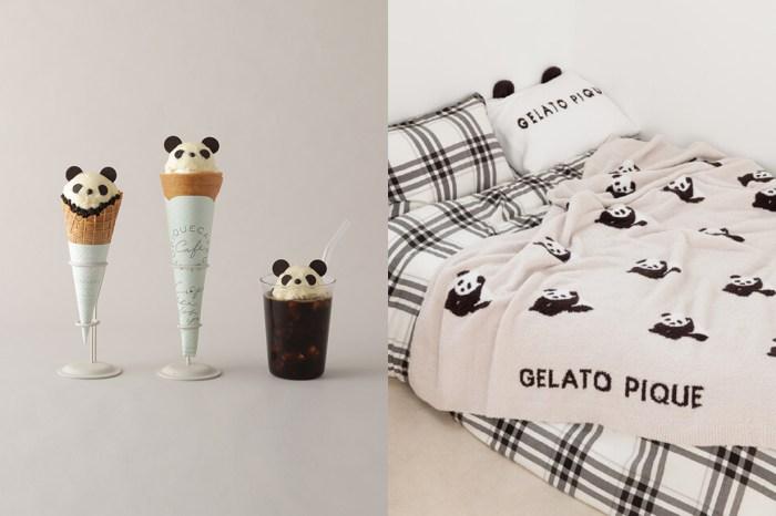 不只居家小物,還有漂浮咖啡+可麗餅,gelato pique 熊貓系列實在太可愛了!