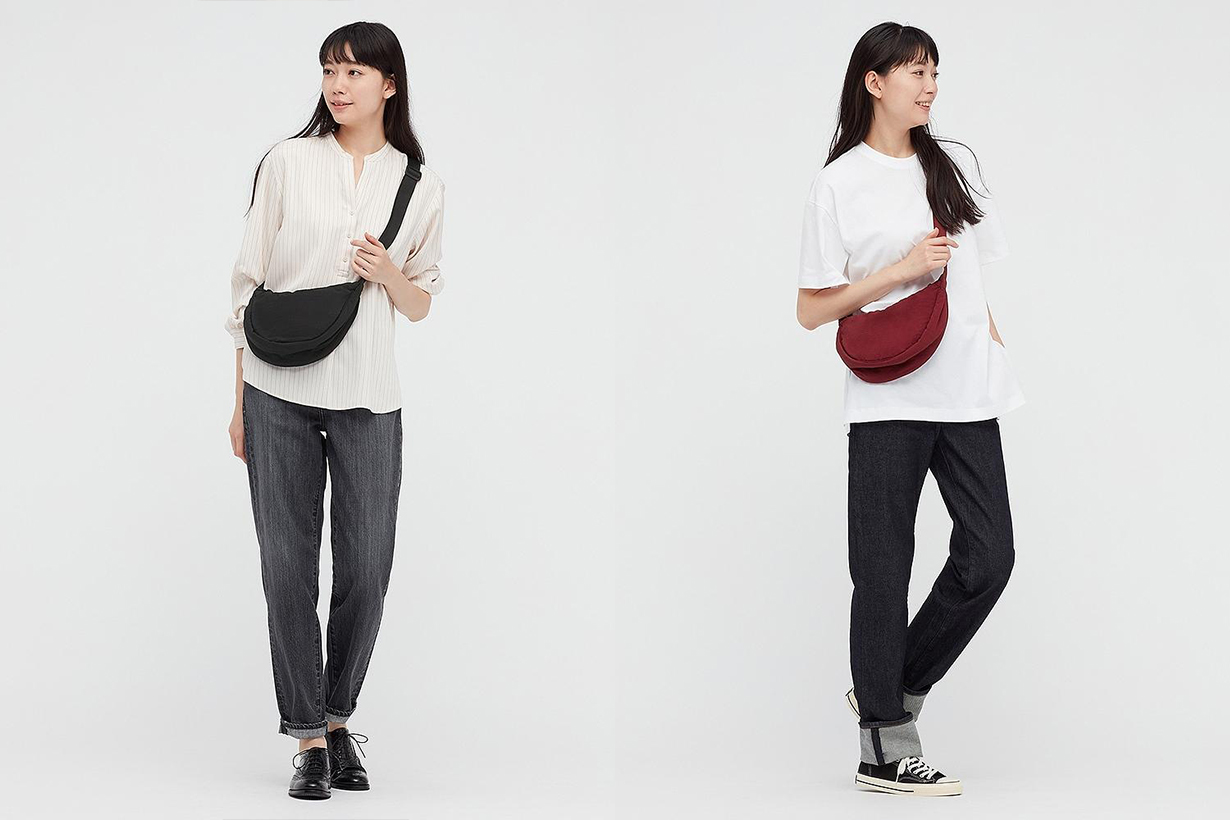 Uniqlo unisex round mini shoulder bag 5 color