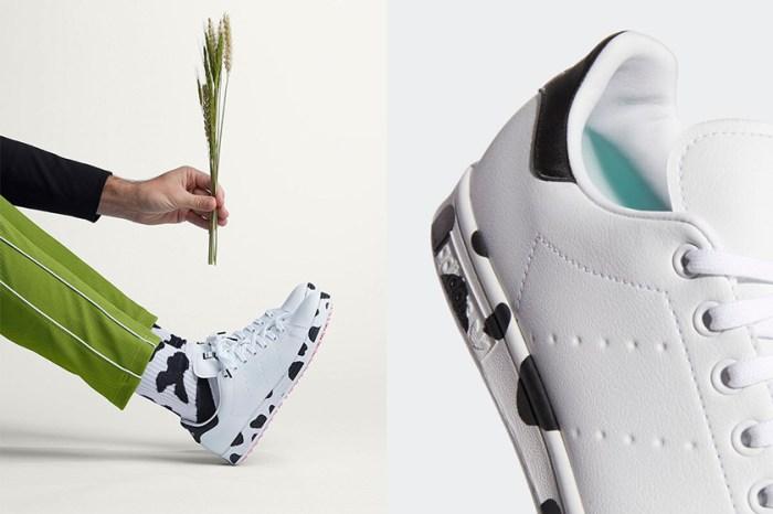 可愛乳牛紋+嫩粉色鞋底:adidas 這雙特別版 Stan Smith 已經太迷人!