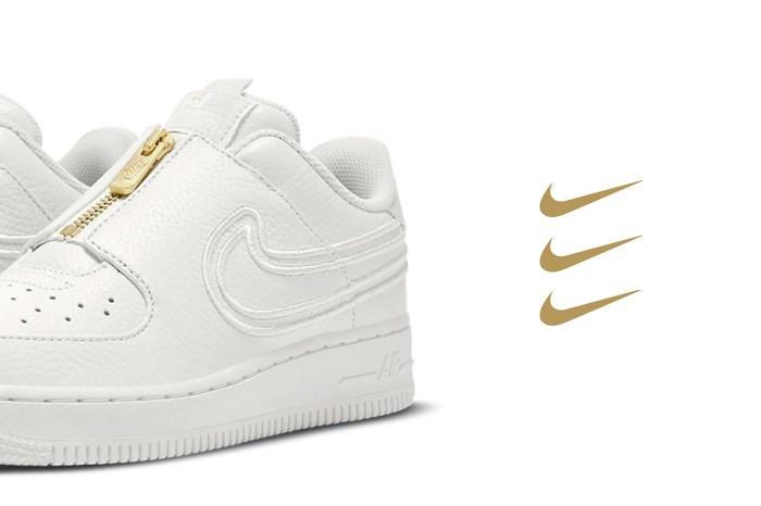 拿掉鞋帶設計更簡約:時髦女生都在注意 Nike 這雙 Air Force 1 變奏版波鞋!