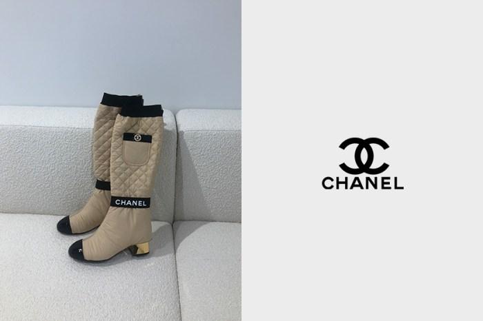 一雙兩穿:CHANEL 菱格紋雙色靴,脫下一層裡面藏有驚喜!