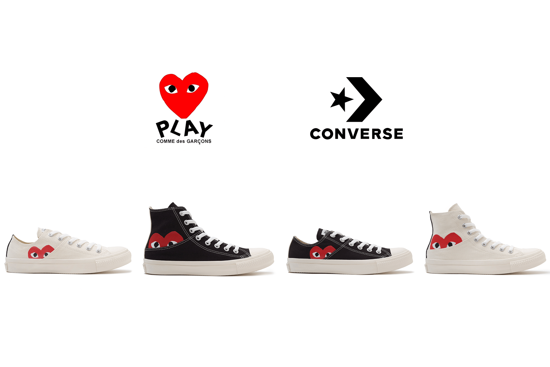 CDG PLAY X Converse new collection released