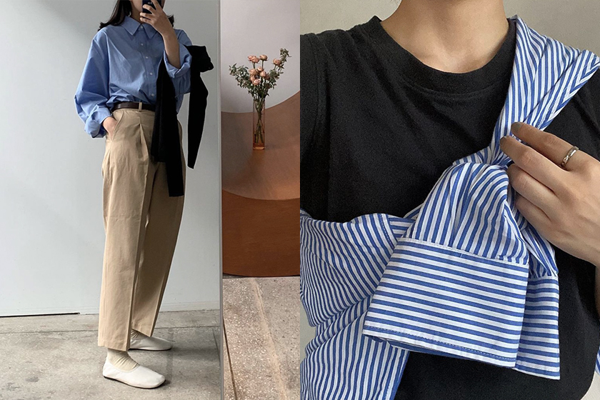 Japanese girl shirts outfit instagram 2021fw