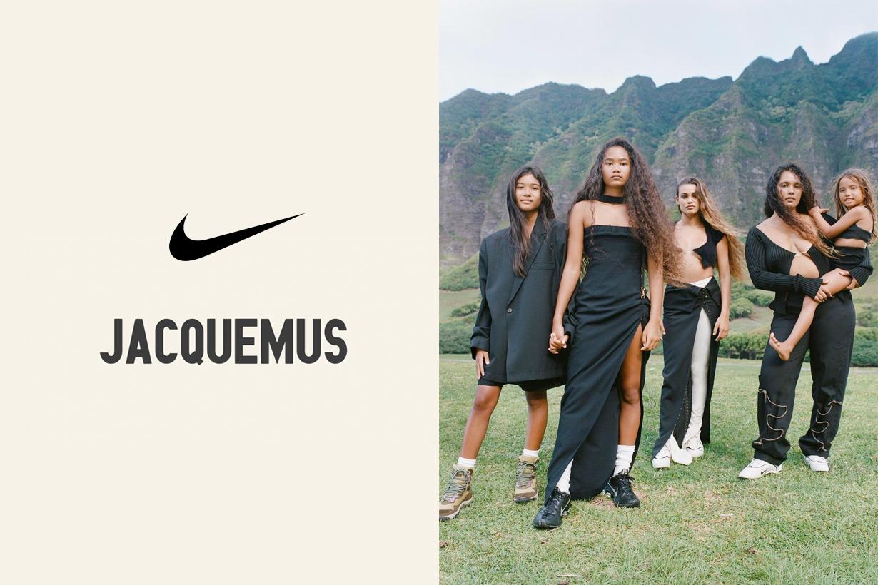 jacquemus nike sneakers la montagne 2021 fw reveal