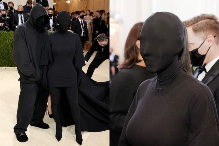 #Met Gala:Kim 這身 Balenciaga 蒙面禮服,原來前夫 Kanye 也參與設計!