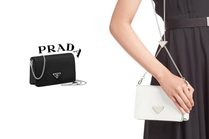 衣櫃裡不能少的萬用小包,Prada Chain Bag 亮點藏在金屬鏈!