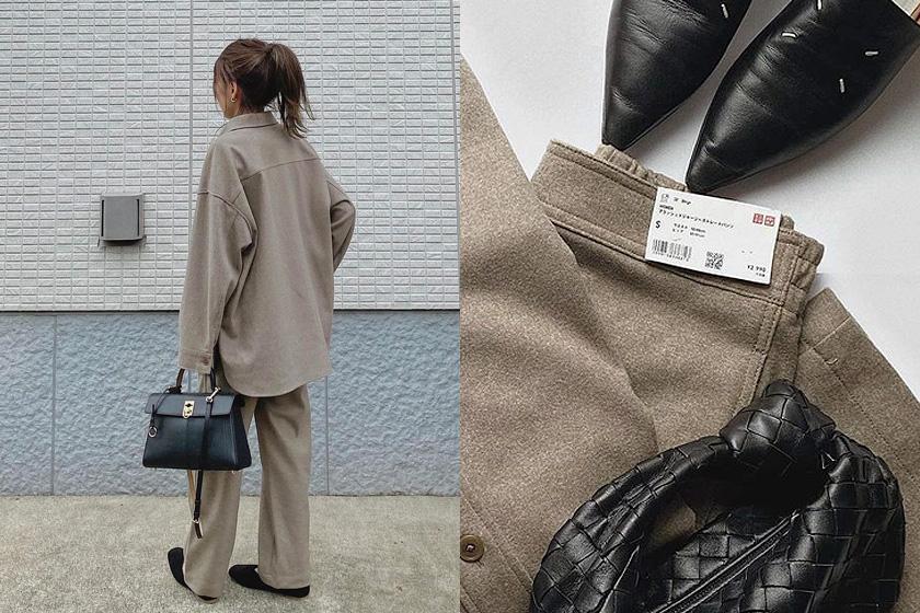 UNIQLO 2021fw shirt jacket set