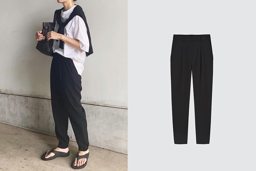 UNIQLO Women's draped wind-beam trousers 2021fw pants