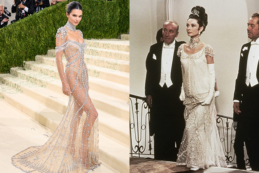 Kendall Jenner Givenchy dress 2021 Met Gala Audrey Hepburn