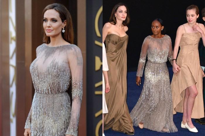 穿上媽媽 7 年前禮服… Angelina 女兒沒有演出,卻成為首映焦點!