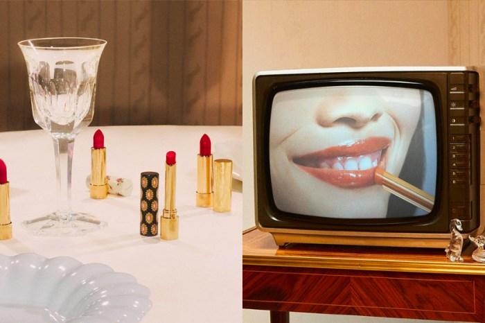 GUCCI BEAUTY 熱賣唇膏再推新色,藏於優雅唇膏管中的黑色復古印花!