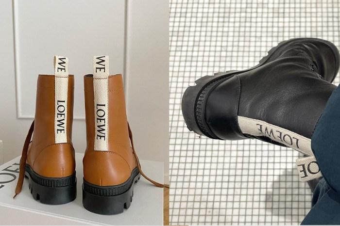 幾乎售罄:LOEWE 短靴才剛上架,因為鞋後可愛的標籤引起搶購!