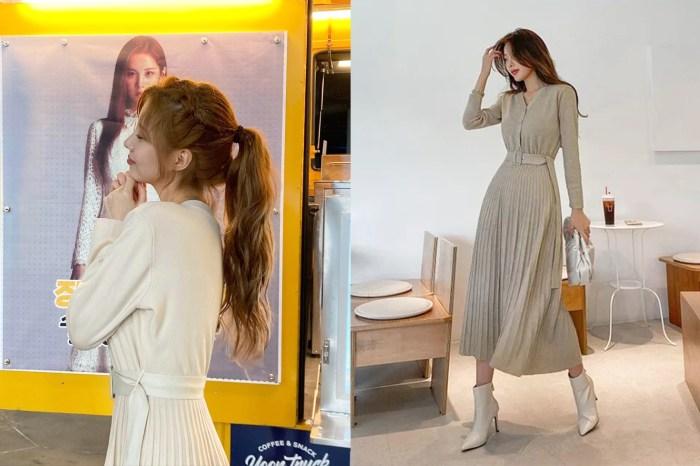 將衣服穿出高級感的代表:徐玄這條米色連身裙的價錢讓網民大吃一驚!
