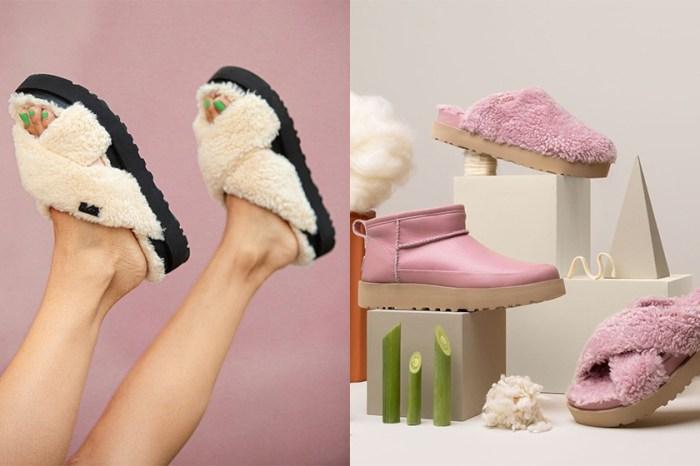 一看傾心!令你想一次集齊三色的 UGG 環保毛毛拖鞋!