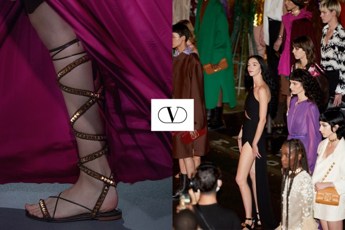 PFW:Valentino 離開伸展台,優雅步入夜幕裡的巴黎市場!