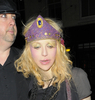 courtney love wearing a purple crown